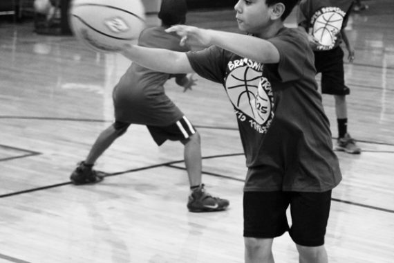 Jay In training at North Brunswick Basketball camp
