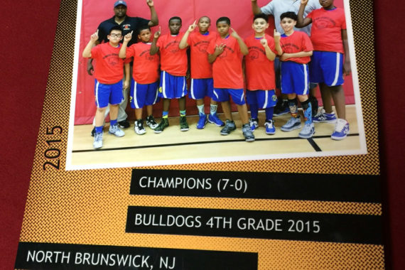 The twins NJ Monroe Sports Ctr League Championship | plaque 4th Grade